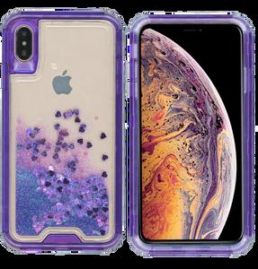 iPhone XS Max MM Water Glitter Hybrid Purple