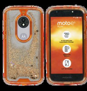 Motorola E5 Play MM Water Glitter Hybrid Rose Gold