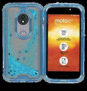 Motorola E5 Play MM Water Glitter Hybrid Blue