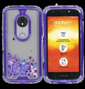 Motorola E5 Play MM Water Glitter Hybrid Purple