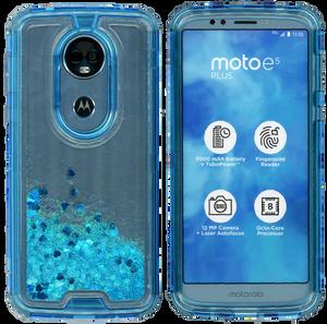 Motorola E5 Plus/E5 Supra MM Water Glitter Hybrid Blue