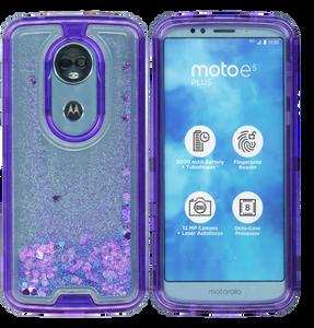 Motorola E5 Plus/E5 Supra MM Water Glitter Hybrid Purple