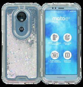 Motorola E5 Plus/E5 Supra MM Water Glitter Hybrid Silver