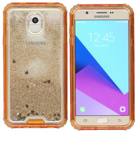 Samsung Galaxy J7(2018) MM Water Glitter Hybrid Rose Gold