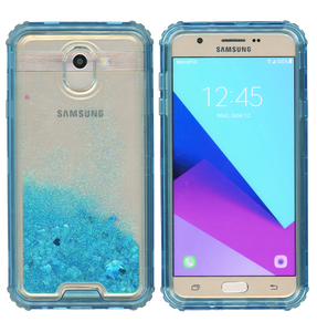 Samsung Galaxy J7(2018) MM Water Glitter Hybrid Blue