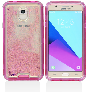 Samsung Galaxy J7(2018) MM Water Glitter Hybrid Hot Pink