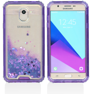 Samsung Galaxy J7(2018) MM Water Glitter Hybrid Purple