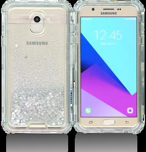 Samsung Galaxy J7(2018) MM Water Glitter Hybrid Silver