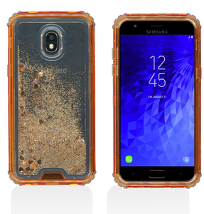 Samsung Galaxy J3(2018) MM Water Glitter Hybrid Rose Gold