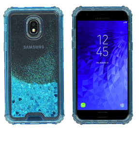 Samsung Galaxy J3(2018) MM Water Glitter Hybrid Blue