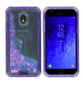 Samsung Galaxy J3(2018) MM Water Glitter Hybrid Purple