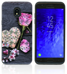 Samsung Galaxy J3(2018)MM Fancy Design Rose Hearts