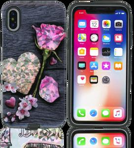 iPhone X MM Fancy Design Heart Roses
