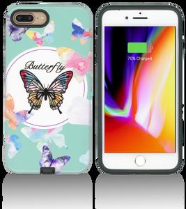 iPhone 8+/7+/6+ MM Fancy Design Case Butterfly