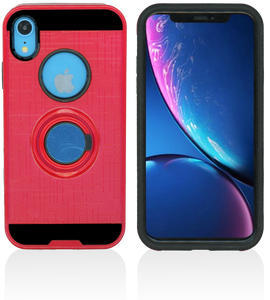 iPhone XR MM Ring Stand Case Red