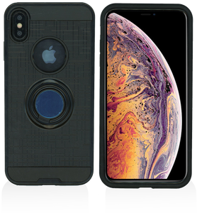 iPhone XS Max MM Ring Stand Case Black