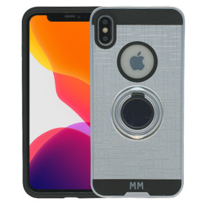 iPhone XS Max MM Ring Stand Case Silver