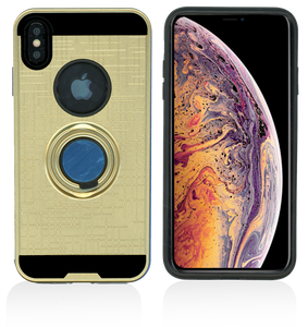 iPhone XS Max MM Ring Stand Case Gold