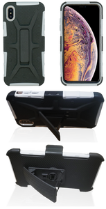 iPhone XS Max MM Rugged Combo Gray