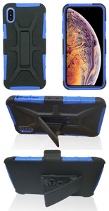 iPhone XS Max MM Rugged Combo Blue