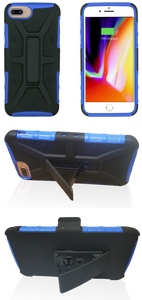 iPhone 8+/7+/6+ MM Rugged Combo Blue
