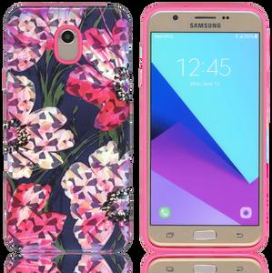Samsung Galaxy J7(2018) MM Fancy Design Pink Flower