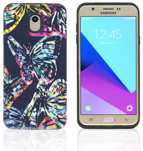 Samsung Galaxy J7(2018) MM Fancy Design Turquoise Butterfly
