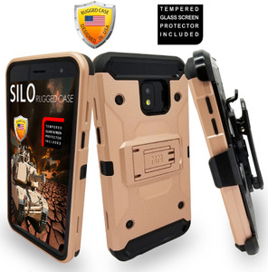 Samsung Galaxy J2 Core/J2 Pure MM Silo Rugged Case Rose Gold