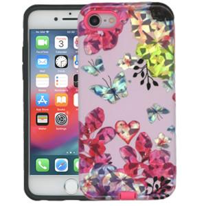 iPhone 8/7 MM Fancy Design Pink Butterfly