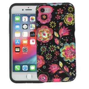 iPhone 8/7 MM Fancy Design Black Flora