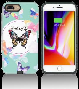 iPhone 8+/7+/6+ MM Fancy Design Case Pink Butterfly