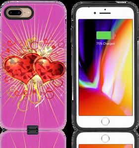 iPhone 8+/7+/6+ MM Fancy Design Case Heart