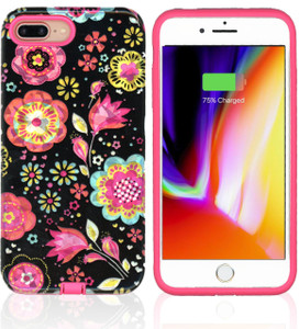 iPhone 8+/7+/6+ MM Fancy Design Case Black Flora