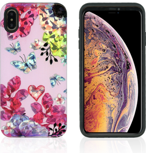 iPhone XS MAX MM Fancy Design Pink Butterfly