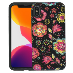 iPhone XS MAX MM Fancy Design Black Flora