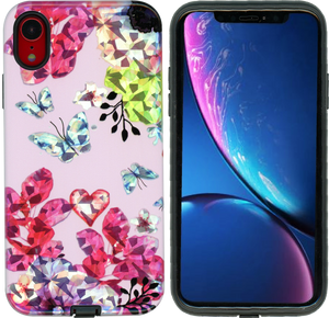 iPhone XR MM Fancy Design Pink Butterfly
