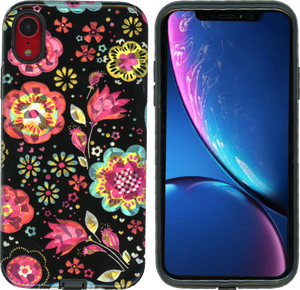 iPhone XR MM Fancy Design Black Flora
