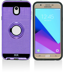 Samsung Galaxy J7 Star/Refine/(2018) MM Ring Stand Case Purple