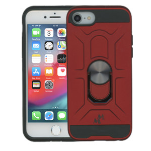 iPhone 8/7 MM Ring Stand Case Red