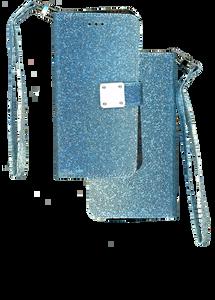iPhone XS Max MM Portfolio Wallet Glitter Blue
