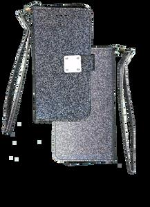 iPhone XS Max MM Portfolio Wallet Glitter Black