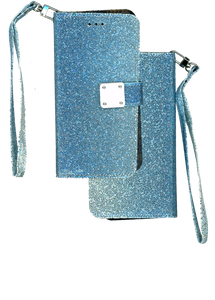 iPhone XR MM Portfolio Case Glitter Blue