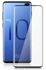 Samsung Galaxy S10 Plus Full Covered Curved Tempered Glass Black