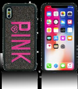 iPhone Xs/X MM Black W Pink Design Case