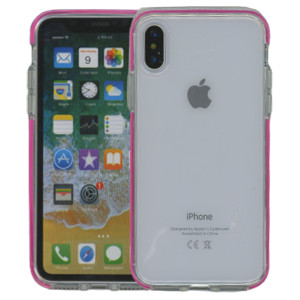 iPhone XS MM Crystal Side Spine Hot Pink