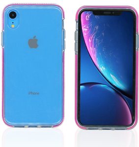 iPhone XR MM Crystal Side Spine Hot Pink