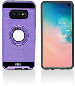 Samsung Galaxy S10 MM Metal Ring Stand Case Purple