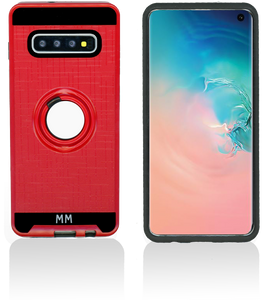 Samsung Galaxy S10 MM Metal Ring Stand Case Red