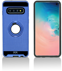 Samsung Galaxy S10 MM Metal Ring Stand Case Blue