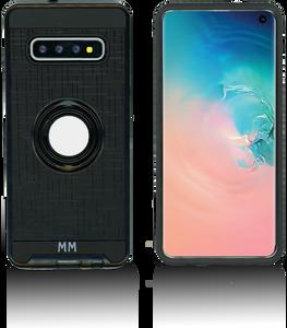 Samsung galaxy S10 Plus MM Metal Ring Stand Case Black